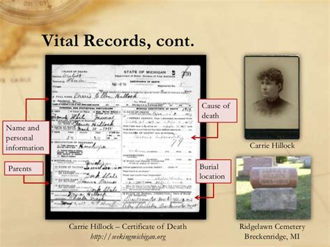 Michigan Birth Records Index Genealogy