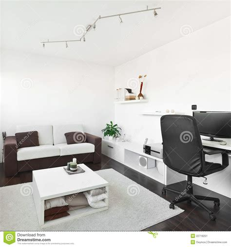 Living Room Pc Table Modern Living Room With Computer Desk Stock Image Image