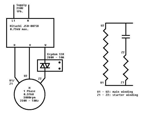 single phase 230v motor wiring diagram 230v single phase