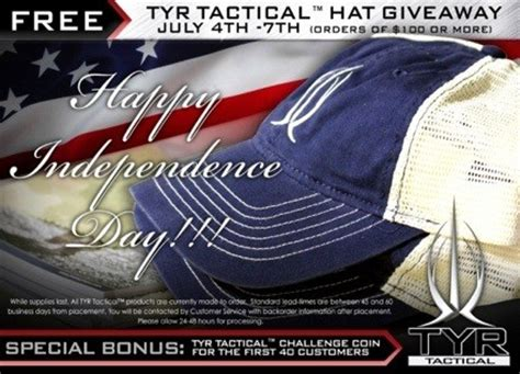 Free Hat Giveaway - tyr tactical free fourth giveaway soldier systems daily
