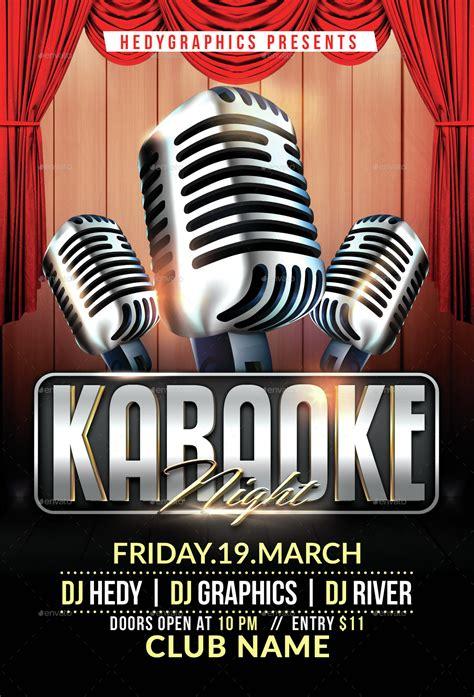 flyer template karaoke night party karaoke flyer template by hedygraphics with flyer template