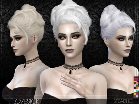 the sims resource stealthic captivated hair sims 4 lovesick female hair by stealthic at tsr 187 sims 4 updates