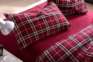 Red Check Duvet Cover Red Check Plaid Muji Duvet Cover Set Bedding King Amp Queen