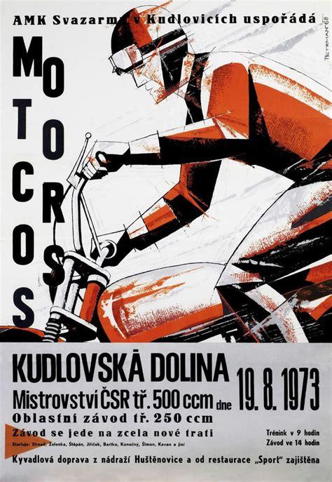 vintage motocross races vintage czechoslovakian motocross chionship race poster