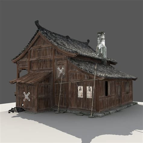 3d modeling house wooden house 3d model cgstudio