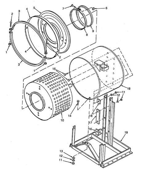 Inside Home Design figure 14 washing machine basket drum and frame assembly