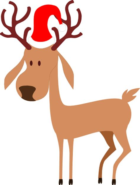 flying reindeer clipart