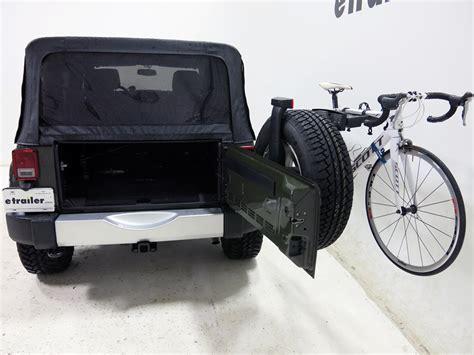 Jeep Spare Tire Bike Rack Jeep Wrangler Unlimited Yakima Sparetime 2 Bike Carrier