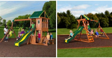 amazing swing sets amazing price wooden swing sets 100 reg up to 500