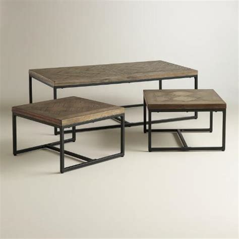 Cost Plus Coffee Table Parquet Gelder Nesting Coffee Tables Set Of 3 World Market