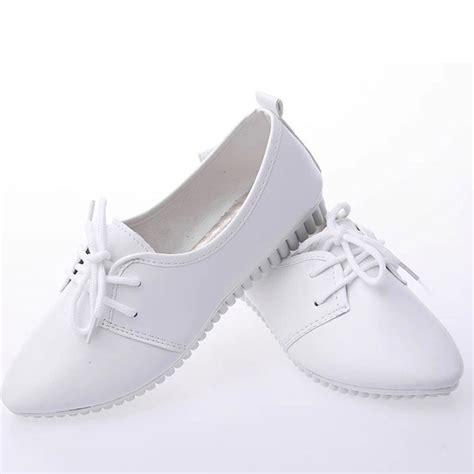 white lace flats shoes white shoes black lace up flats casual shoes