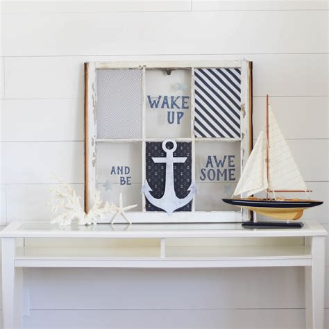 the woven home home decor projects old window picture frame diy project idea nautical window decor paper riot