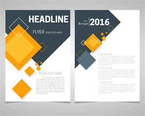 free annual report template phlet design free vector 70 free vector for