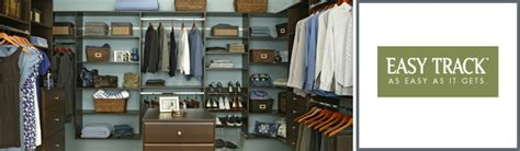 easy track do it yourself custom closet systems at a
