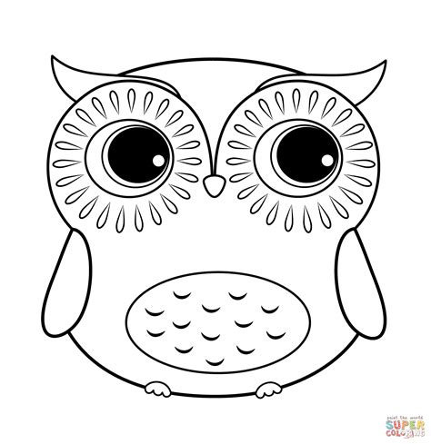 Cartoon Owl Coloring Page Free Printable Coloring Pages Owl Coloring Pages