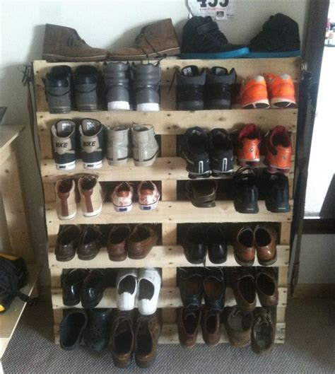 How To Prepare A Rack Of by Pallet Wood Redone To Create A Shoe Rack Pallet