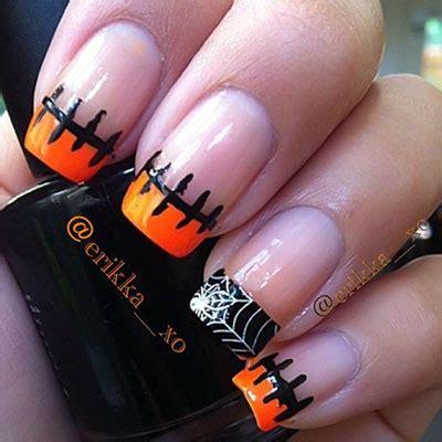 halloween frankenstein nail art 12 frankenstein halloween nails art designs 2016