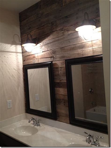 Pallet Wall Bathroom How Sweet It Is Pallet Accent Wall