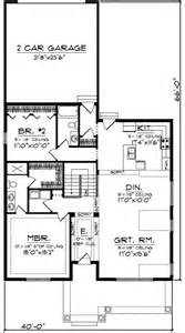 Narrow Lot House Plans With Rear Garage by Craftsman With Rear Load Garage 89716ah 1st Floor