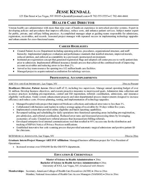 Healthcare Resume Exles Health Care Resume Objective Sle Http