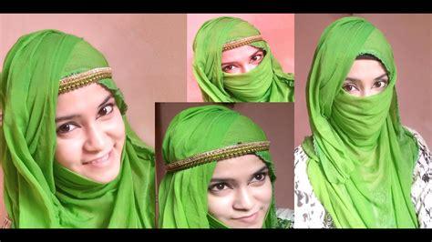 hijab with niqab tutorial youtube easy summer hijab niqab tutorial in 2 minutes youtube