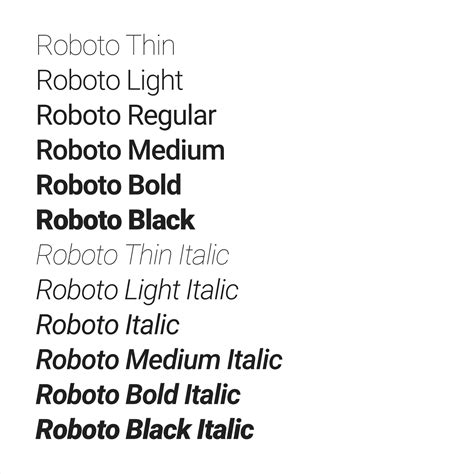 material design font roboto typography style material design guidelines
