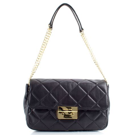 michael kors black quilted sloan s bag