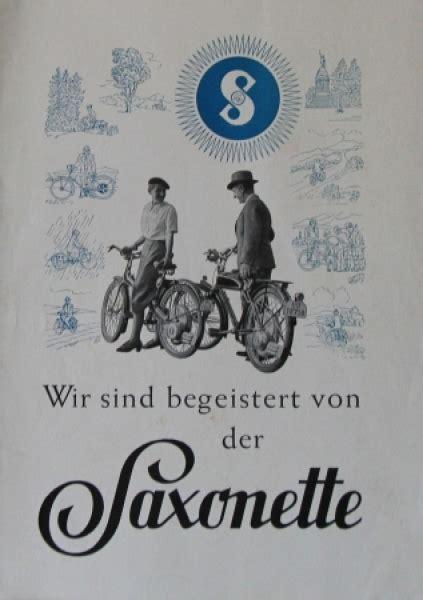 Sachs Motorrad 1939 by Bauer Saxonette Prospekt Ca 1939 Nr Bauer075 Oldthing