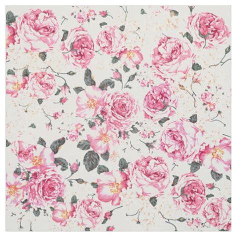 Rustic Mugs modern vintage pink black roses floral pattern fabric zazzle