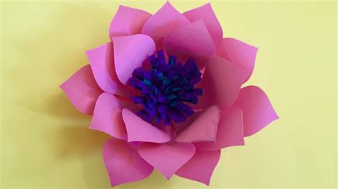 How To Make A Flower Out Of Wrapping Paper - origami d layered and penstemon paper flowers