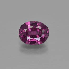 Rhodolite Garnet 2 21ct 1 2 carat oval 7 2x5 6mm and untreatedred