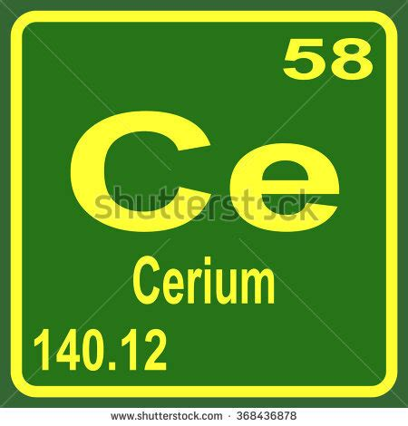 Ce Periodic Table by Cerium Stock Images Royalty Free Images Vectors