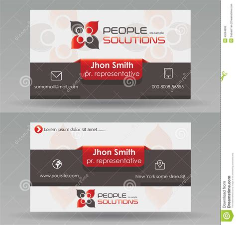 Business Card Text Template by Business Card Template