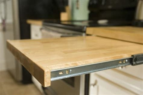 Folding Kitchen Island Work Table Countertop Hacking 5 Ways To Increase Your Workspace In A