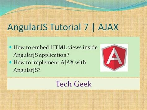 angularjs tutorial website angularjs tutorial 7 ajax view inclusion youtube