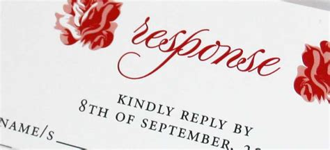 Setting an RSVP Date for your Wedding Invitations