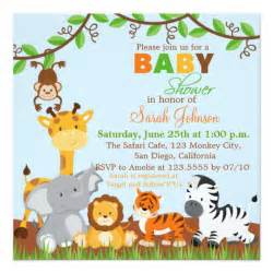 safari jungle animals baby shower invitation zazzle