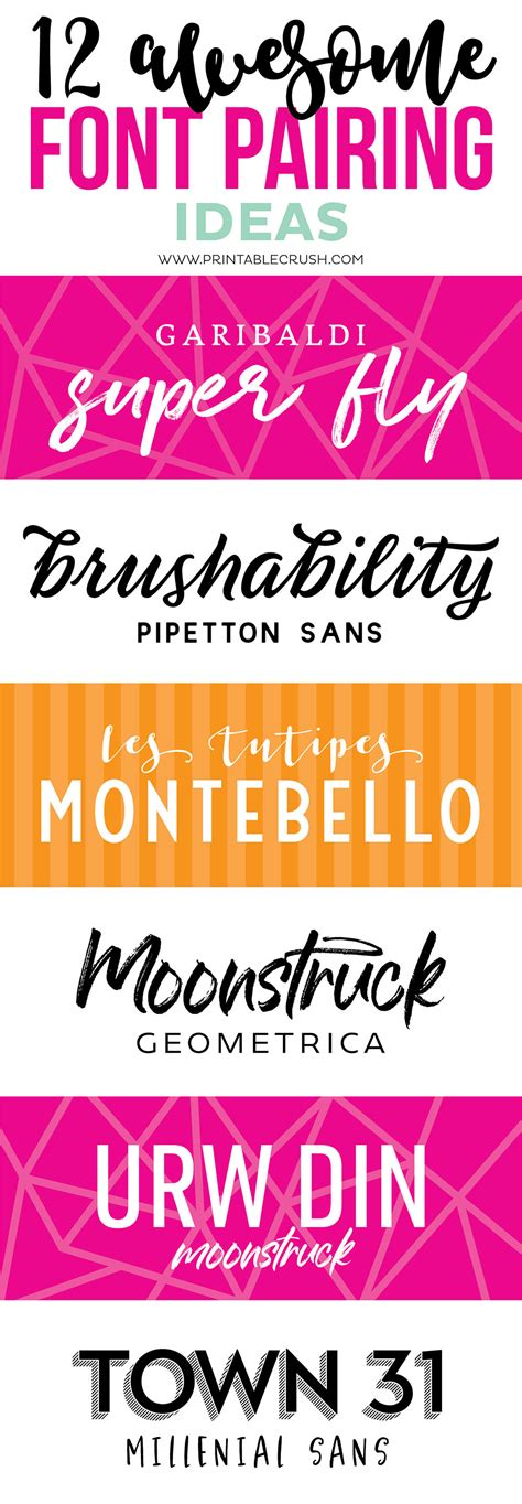 printable instagram font 12 awesome font pairing ideas for designers printable crush