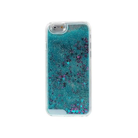 coque liquide avec paillettes et etoiles bleu pour iphone 6 et 6s 4 7 quot