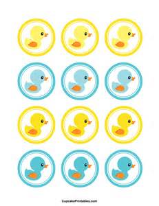printable duck cupcake toppers
