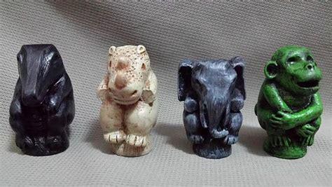 Jumanji Movie Game Pieces | jumanji game pieces elephant monkey rhino croc token