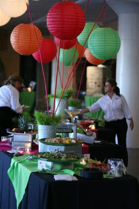 table decor with paper lanterns lucky you productions