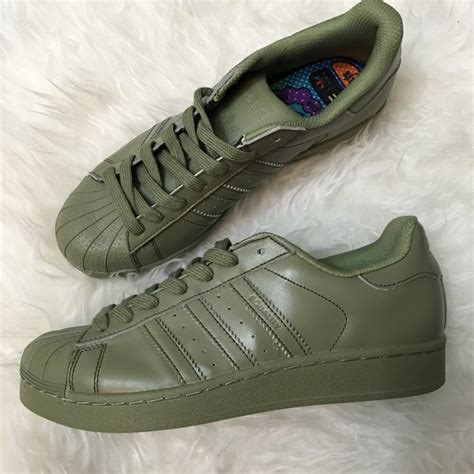 olive green adidas shoes