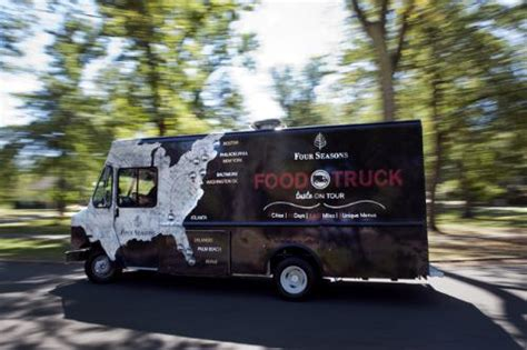 boston design center food truck schedule four seasons sends out food truck for cross country tour