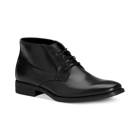 calvin klein boots mens calvin klein elias laceup boots in black for lyst