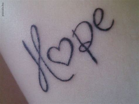 hope heartbeat tattoo hope tattoo my style pinterest
