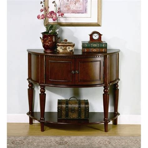 Foyer Table With Storage Storage Entryway Console Table In Brown 950059