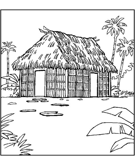 coloring pages of homes around the world caba 241 a en una isla dibujalia dibujos para colorear