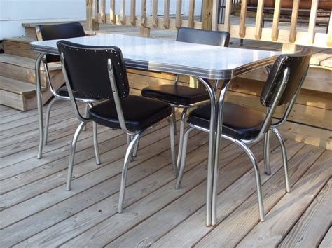 retro formica dining table and chairs vintage retro 1950s quot kuehne quot dining kitchen formica chrome
