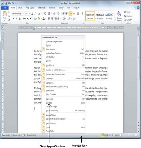 tutorialspoint ms word insert text in word 2010